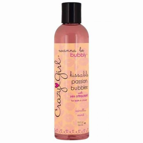 CRAZY GIRL KISSABLE PASSION BUBBLES VANILLA MINT 8 OZ