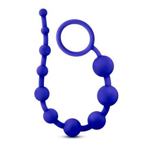 LUXE SILICONE 10 BEADS INDIGO BLUE