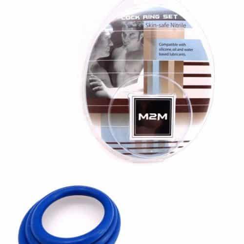 RING NITRILE 3PC SET DARK BLUE