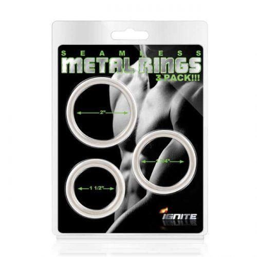 SEAMLESS METAL RINGS 3PACK