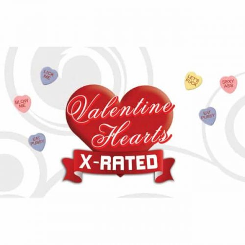 VALENTINES X RATED HEART CANDY W/ ASSORTED SAYINGS 24PC DSP
