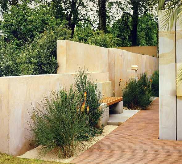 Sichtschutz Terrasse Aus Stein Filout Gartengestaltung Sichtschutz ...