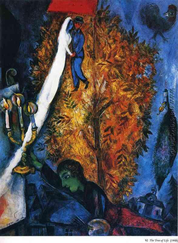 Der Baum des Lebens di Marc Chagall von Marc Chagall