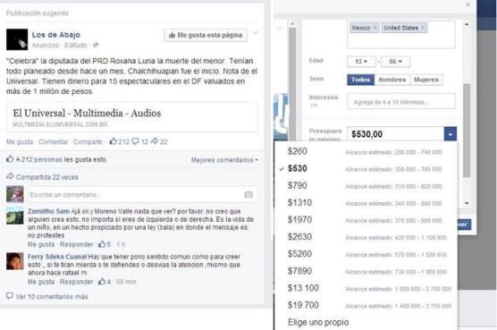Anuncios Facebook Ley Bala