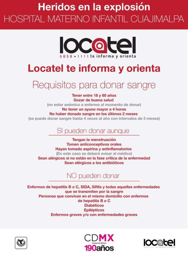 Donación de sangre Cuajimalpa