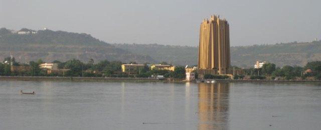 Bamako skyline with BCEAO head office