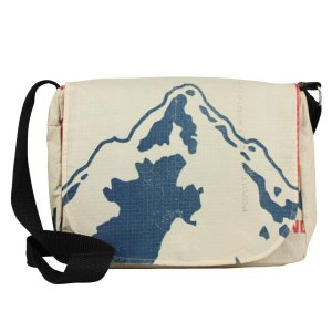 mountain print small messenger bag