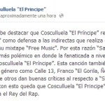 """Cosculluela Asegura En Su Pagina De Facebook Que Es """"El Rey Del Rap"""" que tu opinas?"""