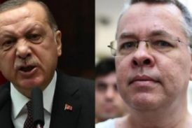 Erdogan rechaza alerta de Trump y dice que mantendrá preso al pastor Brunson