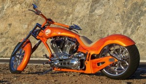 Orange Chopper on Beach