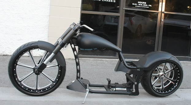 N385 MMW EURO DRAG DROP SEAT 300 TIRE SINGLE SIDED SWINGARM WALZ HARDCORE STYLE