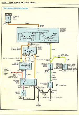 I need the wiring schematics for AC Compressor