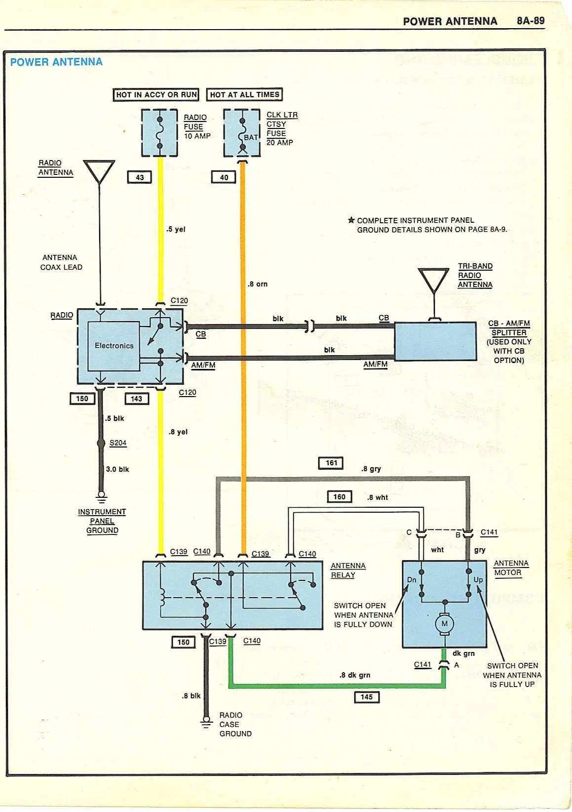 hight resolution of 1984 corvette radio wiring diagram wiring diagram c4 corvette wiring diagram 78 corvette power antenna wiring diagram