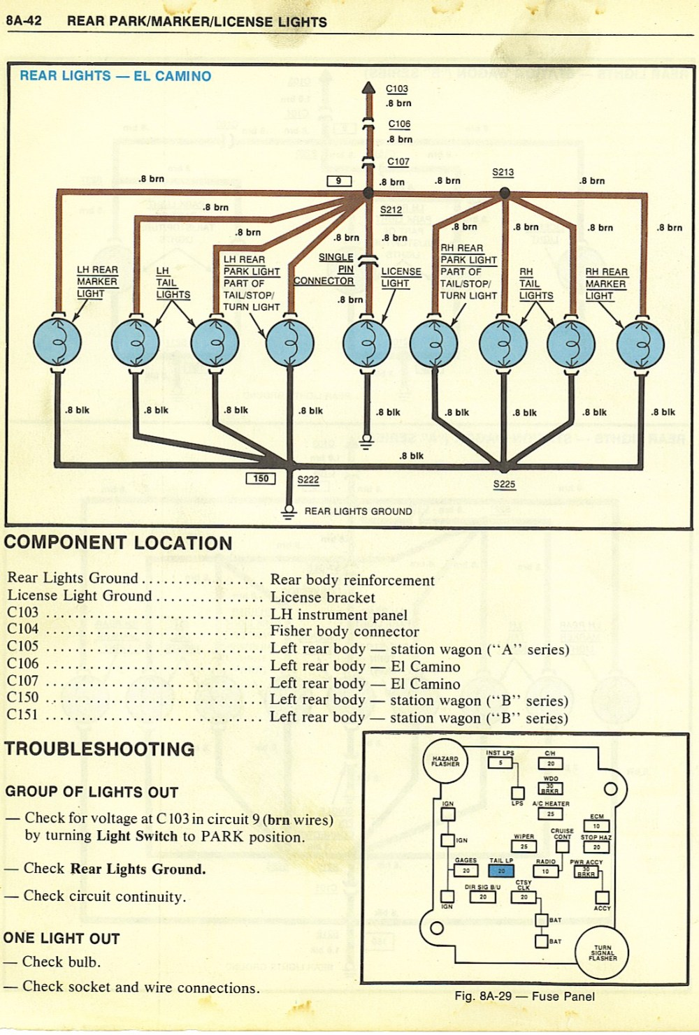 medium resolution of 1964 chevy el camino wiring diagram