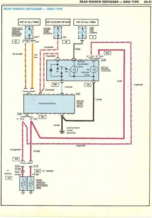 small resolution of 1973 firebird rear defroster wiring diagram