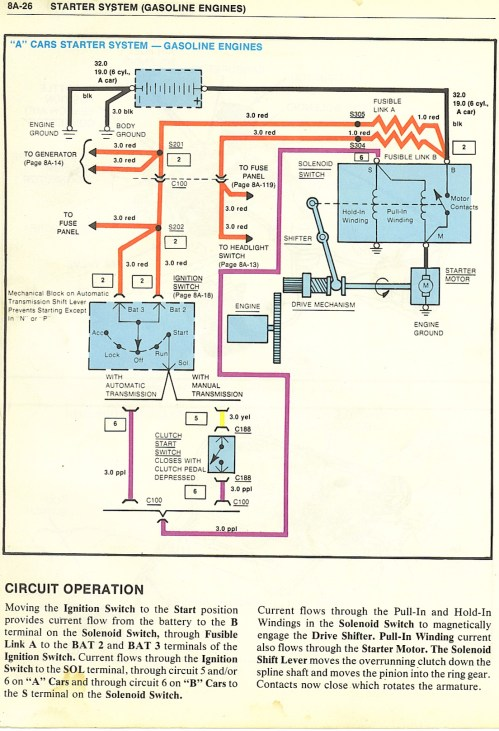 small resolution of starting system wiring diagram gm