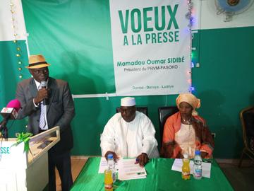 Pour le nouvel an 2019 : Le Président du PRVM-FASOKO, Mamadou Oumar Sidibé a présenté ses vœux à la presse et a dégagé les grands projets du parti