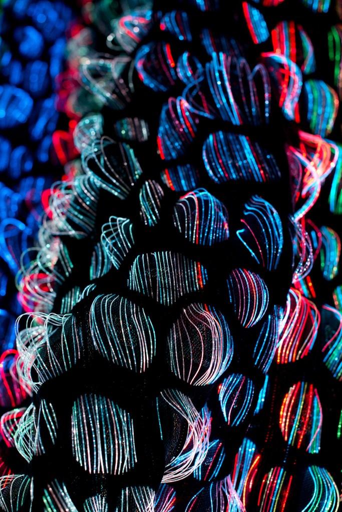 optical fibre textile led art