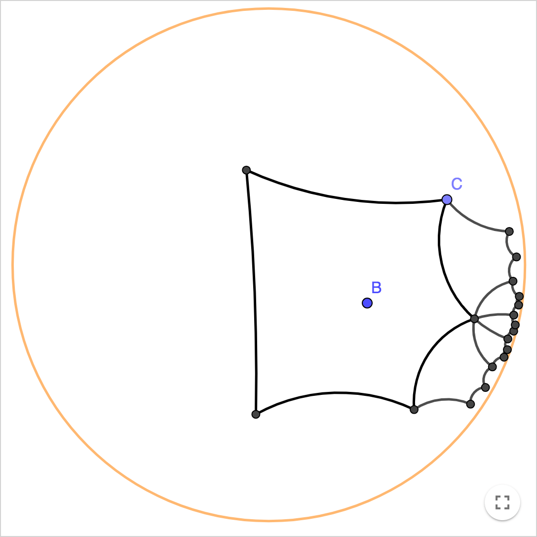 Non-Euclidean Geometry: Interactive Hyperbolic Tiling in
