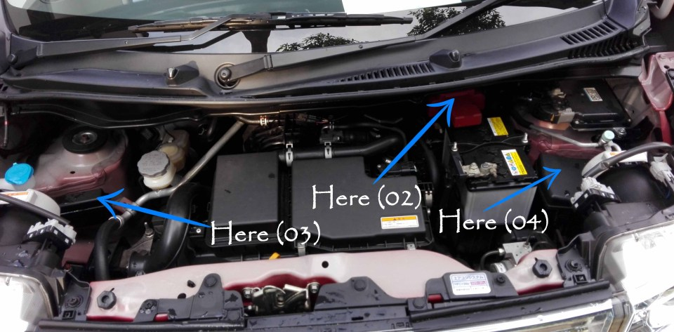 Suzuki WagonR Hybrid (Stingray) – Fuse design - In the engine compartment