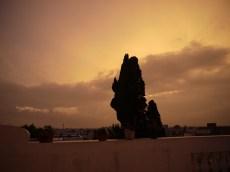 Wenn der Himmel bebt - Blick vom Zimmer in La Marsa, Tunis #nofilter