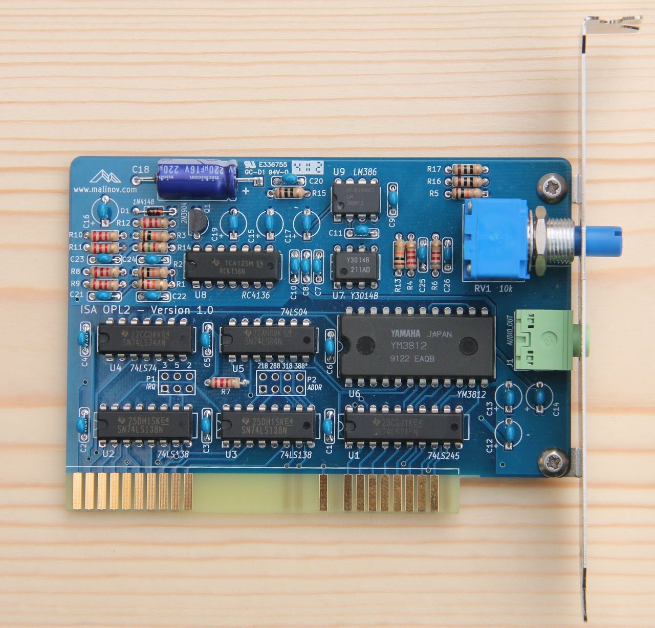 hight resolution of isa opl2 complete board jpg