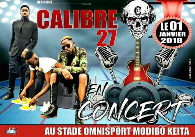 Calibre 27 en concert le 01 Janvier 2018  au stade Omnisport