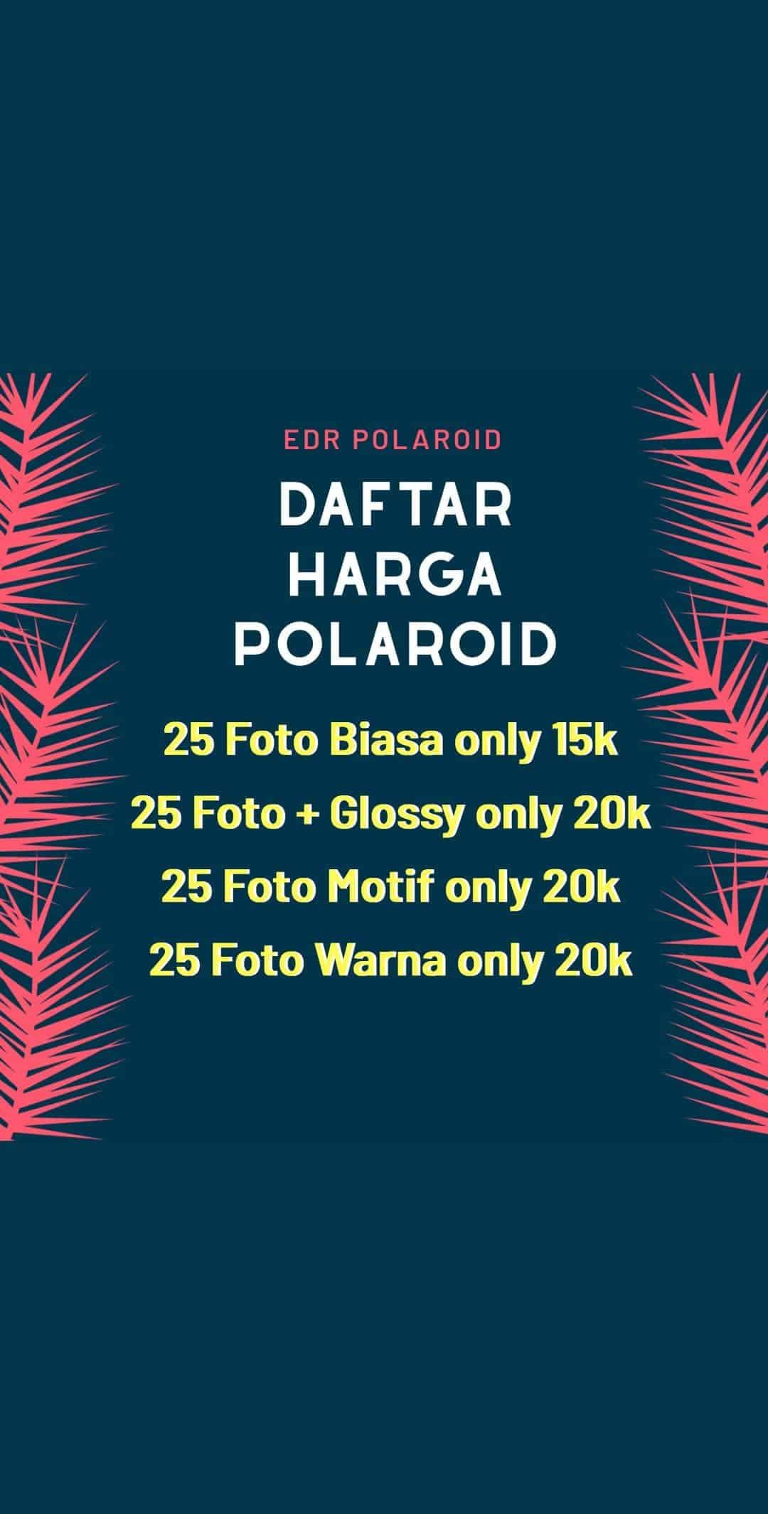 HargaJasa Cetak Foto Polaroid Purwokerto