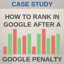 Google Penalty and First Page recovery