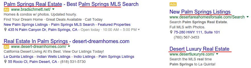 real estate in palm springs Google Search