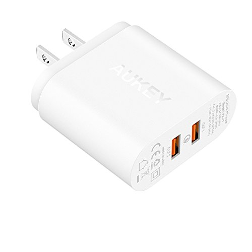 AUKEY USB Wall Charger, Quick Charge 2.0 with Dual Ports