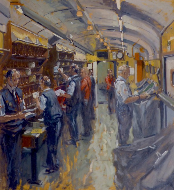 Ian Cryer Proi Painting Of Royal Mail Travelling Post