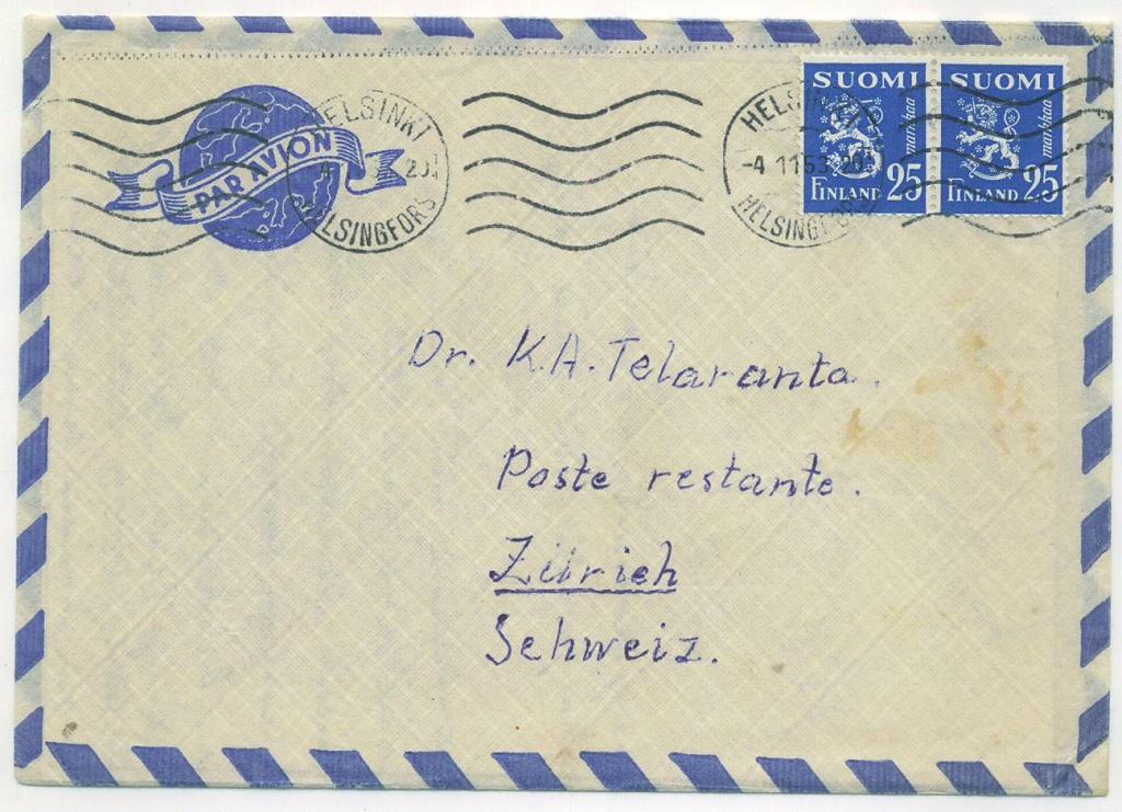 Poste Restante maksu – ulkomaanlähetysten detalji