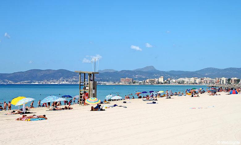 playa de palma strand bucht von palma