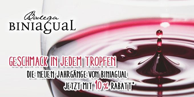 Finca Biniagual - 10 % - Neue Jahrgänge und Weine verfügbar!