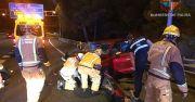 6 Verletzte bei einem Unfall auf der Autobahn Palma <> Andratx