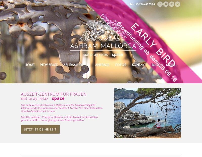Auszeit-Urlaub für Frauen - Ashram Mallorca startet Crowdfunding-Projekt