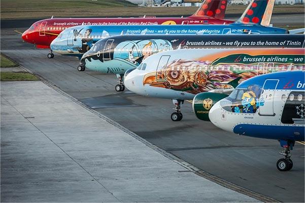 Flugzeuge der Brussels Airline