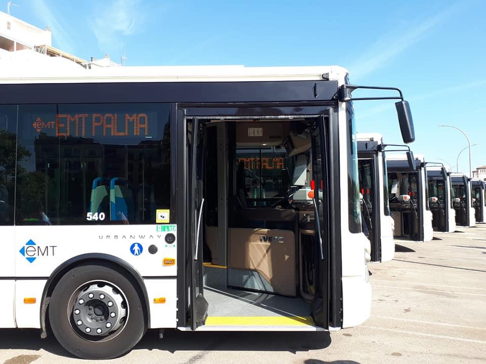 Erdgas betriebene Busse der EMT in Palma