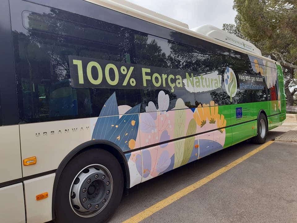 Erdgas Bus der EMT