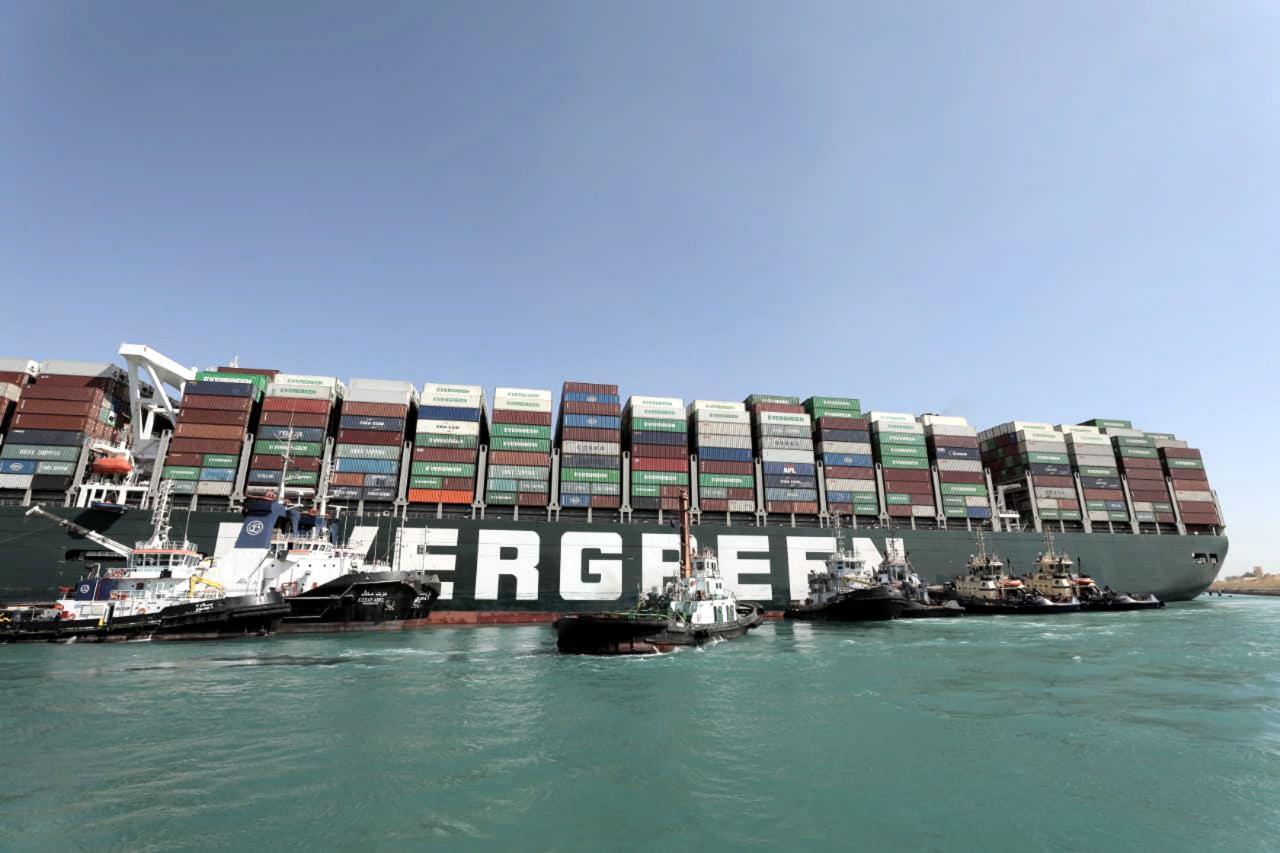 Evergreen im Suez Kanal