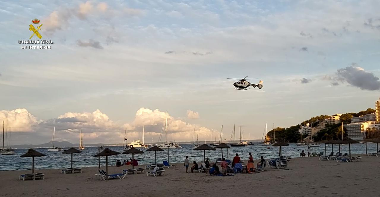 Helikopterüberwachung auf Mallorca
