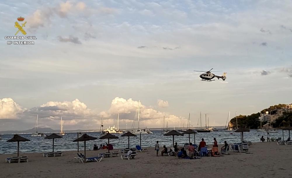 Hubschrauber der Guardia Civil im Einsatz