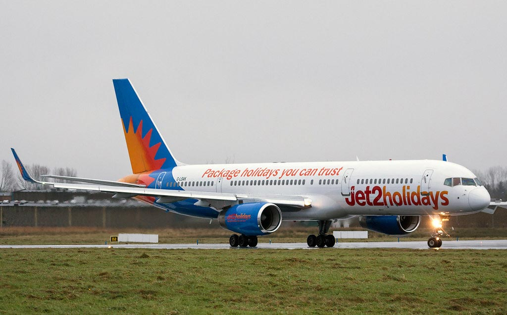 Flugzeug der Airline Jet2holidays