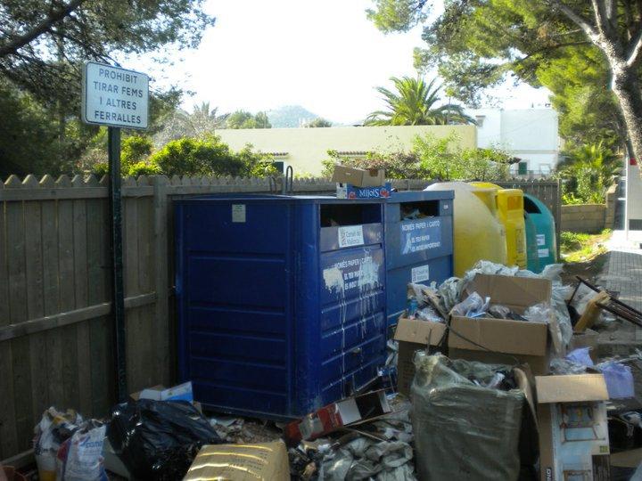 MüllContainer auf Mallorca