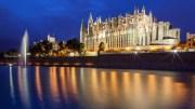 Kathedrale von Palma bei Nacht