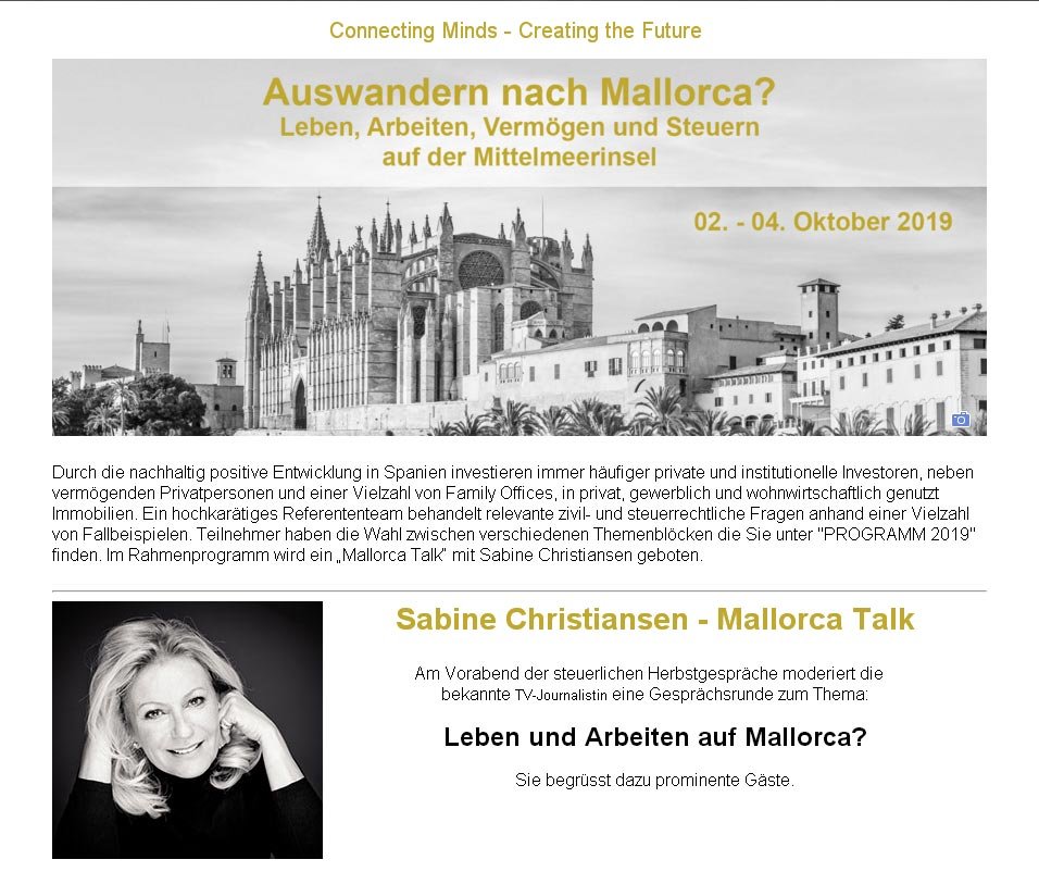 Mallorca Talk mit Sabine Christian