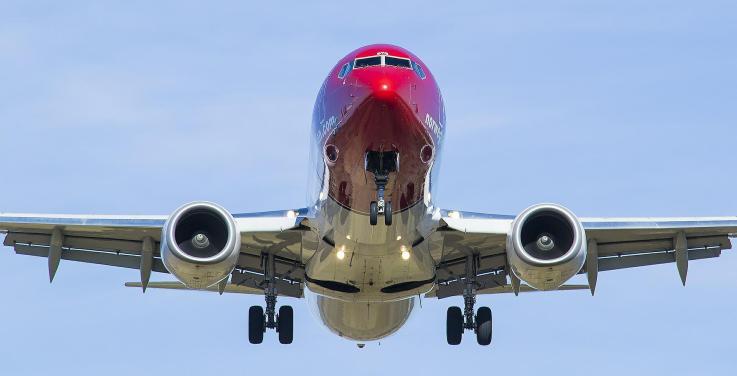 Flugzeug der Airline Norwegian
