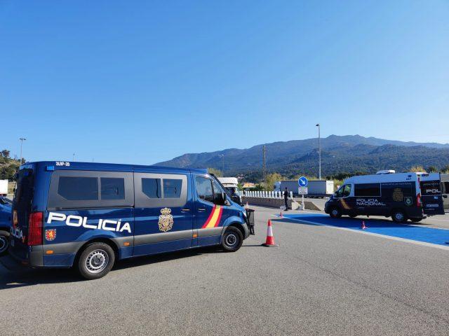 Kontrolle der Policia Nacional