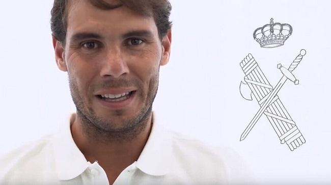 Rafa Nadal erhält das silberne Kreuz der Guardia Civil